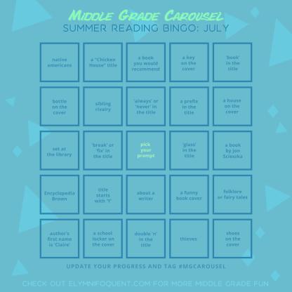 Summer Reading Bingo board for July