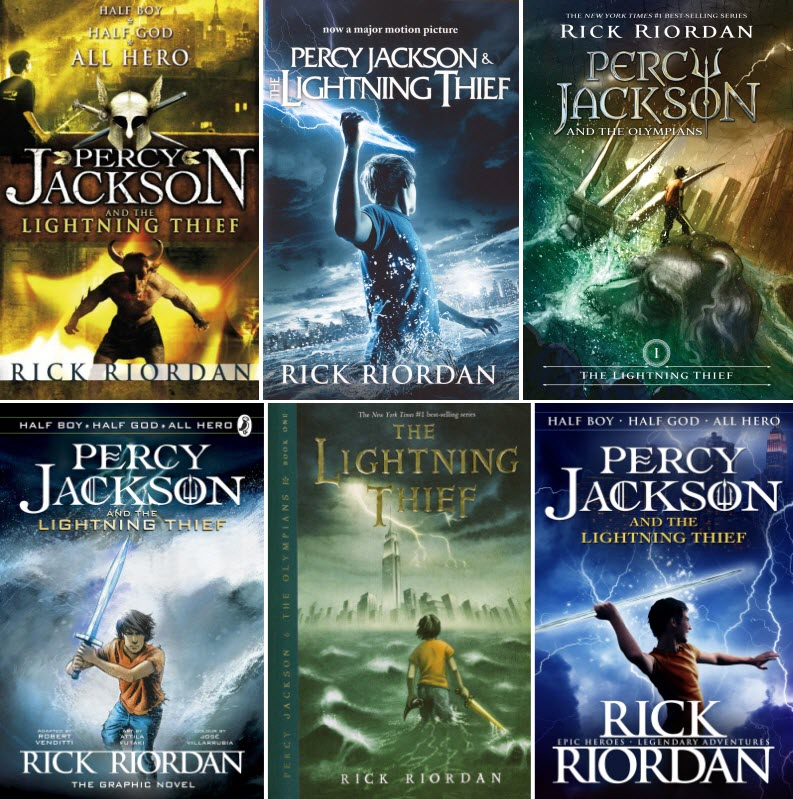 Percy Jackson and the Lightening Thief alternate book covers