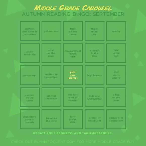 Autumn Reading Bingo board for September