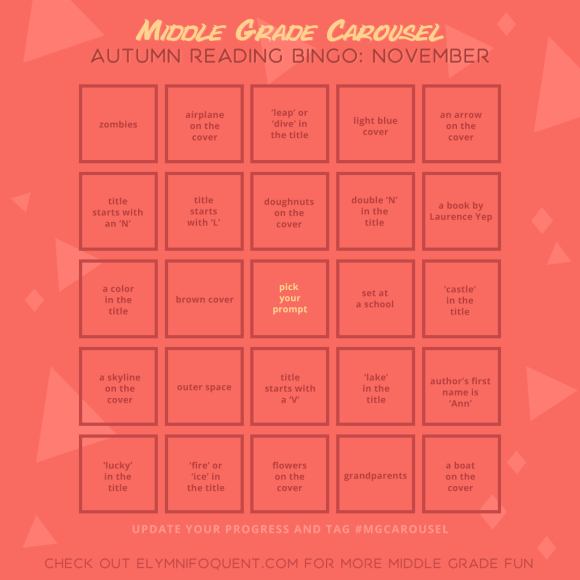 Autumn Reading Bingo board for November