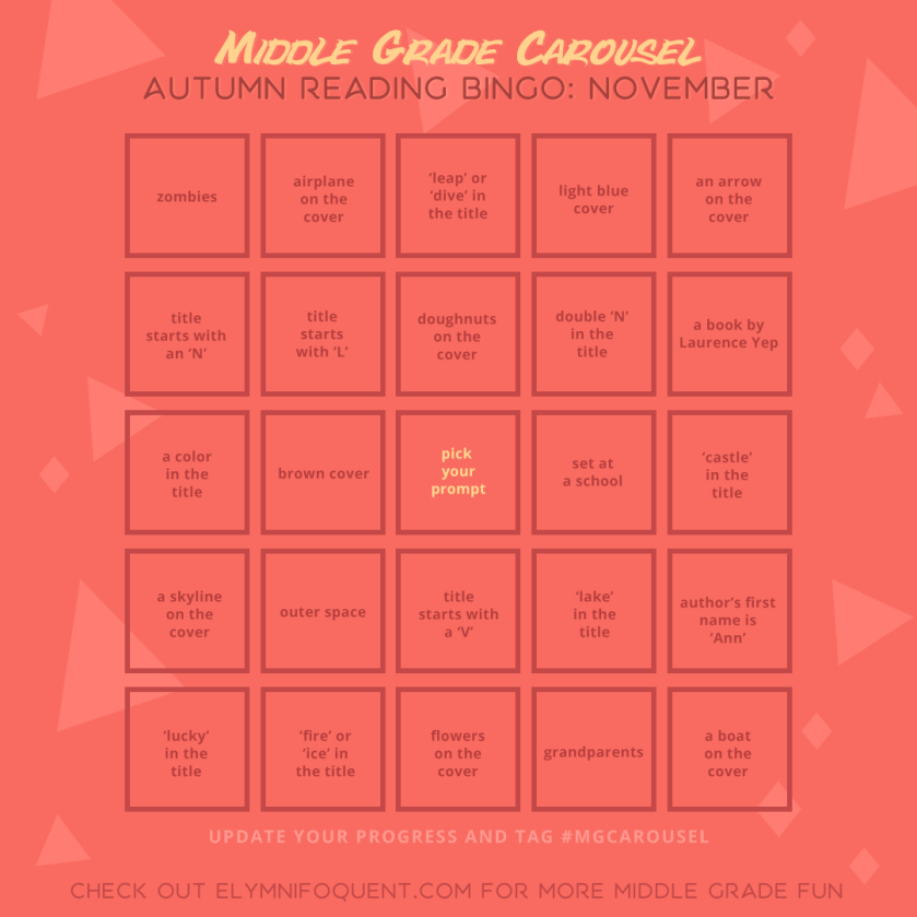 Autumn Reading Bingo board for November