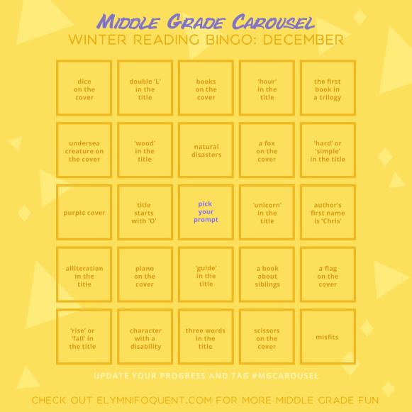 Winter Reading Bingo board for December