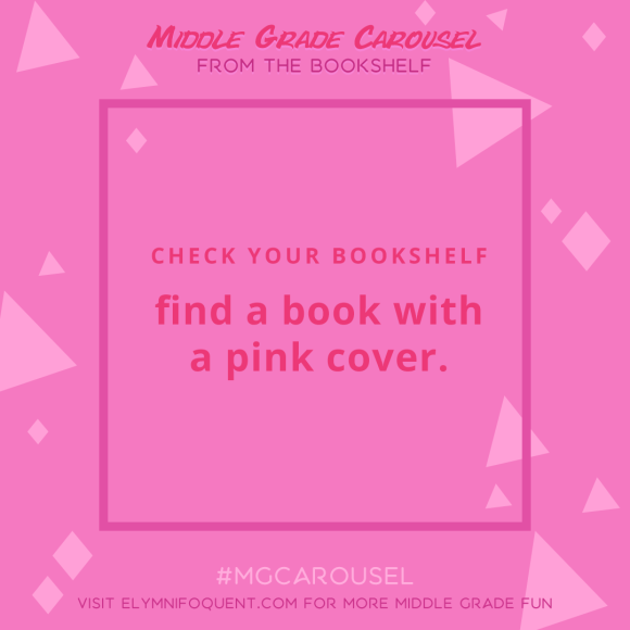 From the Bookshelf: find a book with a pink cover