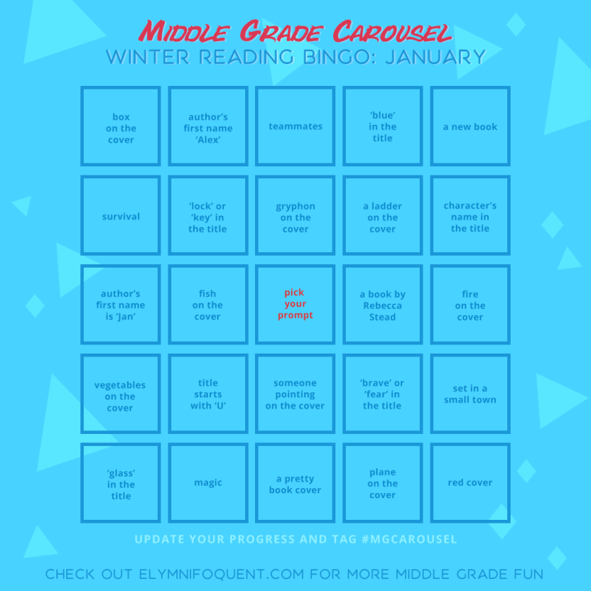 Winter Reading Bingo board for January