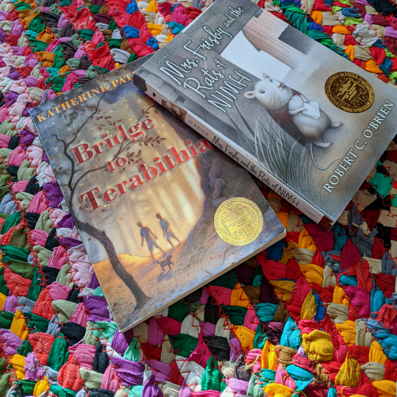 Bookstagram Photo featuring Bride to Terabithia by Katherine Paterson and Mrs. Frisby and the Rats of NIMH by Robert C. O'Brien