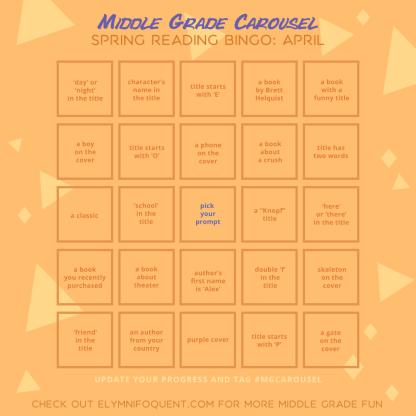 Spring Reading Bingo board for April