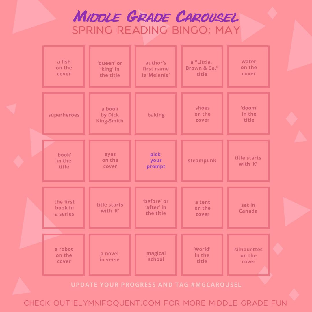 Spring Reading Bingo board for May