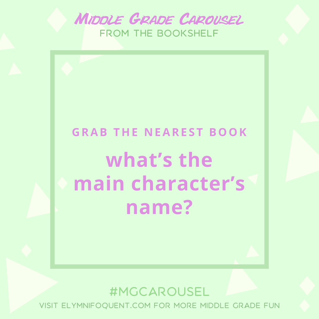 From the Bookshelf: what's the main character's name?