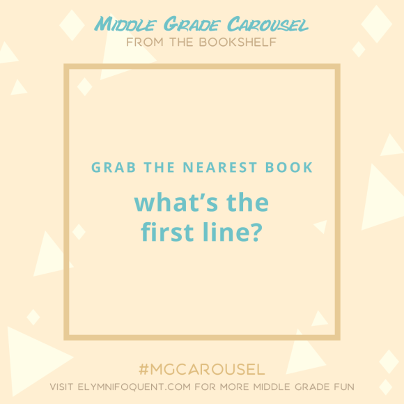 From the Bookshelf: what's the first line?