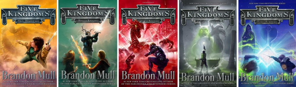 Book covers for the Five Kingdoms series by Brandom Mull