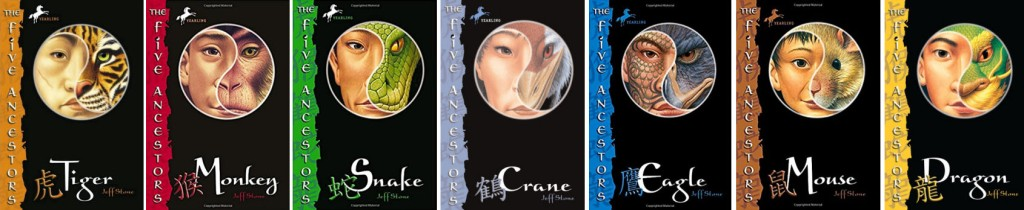 Book covers of the Five Ancestors series by Jeff Stone