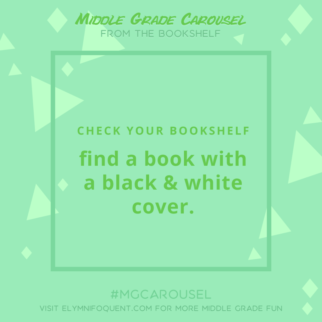 From the Bookshelf: find a book with a black and white cover