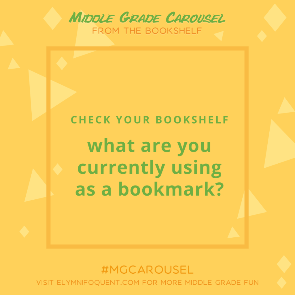 From the Bookshelf: what are you currently using as a bookmark?