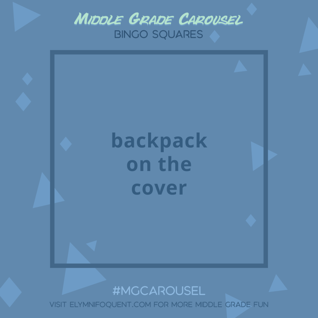 Bingo Squares: backpack on the cover