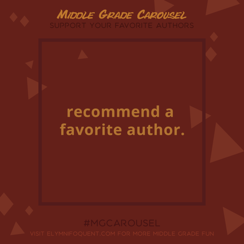 Support an Author: recommend a favorite author.