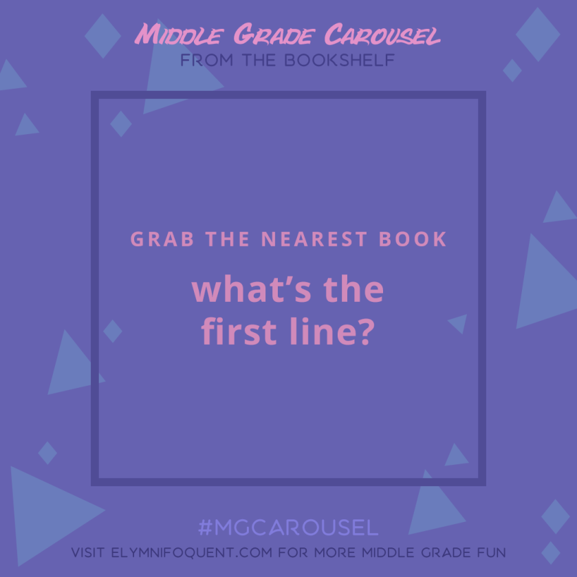 From the Bookshelf: what's the first line of the book you're currently reading?